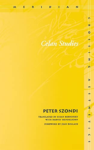 9780804744027: Celan Studies (Meridian: Crossing Aesthetics)