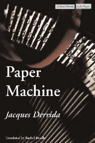 9780804746205: Paper Machine (Cultural Memory in the Present)