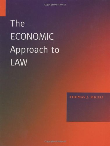 9780804746557: Economic Approach to Law