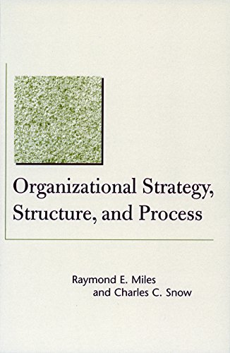 9780804748391: Organizational Strategy, Structure, and Process (Stanford Business Classics)