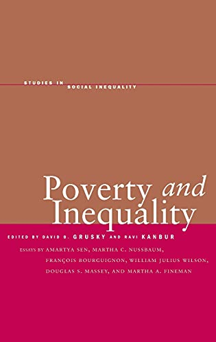 9780804748421: Poverty and Inequality (Studies in Social Inequality)