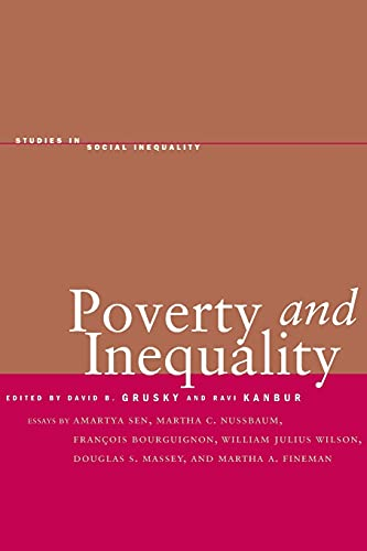 9780804748438: Poverty and Inequality (Studies in Social Inequality)