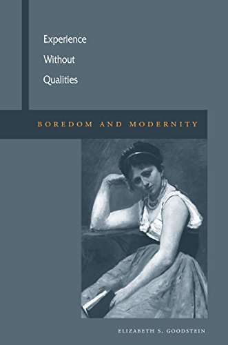 9780804749589: Experience Without Qualities: Boredom And Modernity