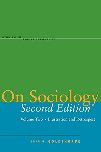 9780804750004: On Sociology: Illustration And Retrospect: 2
