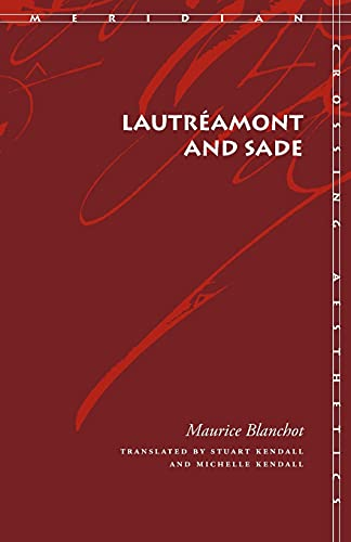 9780804750356: Lautréamont and Sade (Meridian: Crossing Aesthetics)