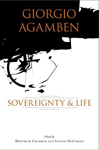 9780804750493: Giorgio Agamben: Sovereignty and Life