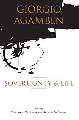 9780804750509: Giorgio Agamben: Sovereignty and Life