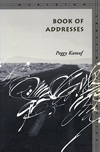 Book of addresses.: Kamuf, Peggy.