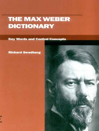 9780804750943: The Max Weber Dictionary: Key Words and Central Concepts (Stanford Social Sciences)