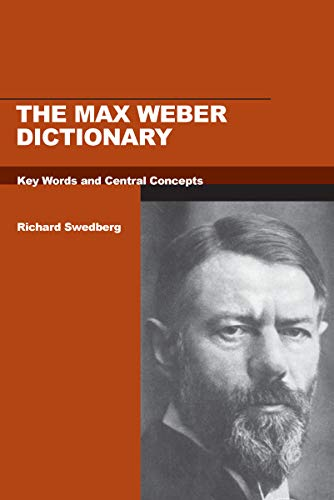 9780804750950: The Max Weber Dictionary: Key Words and Central Concepts (Stanford Social Sciences)