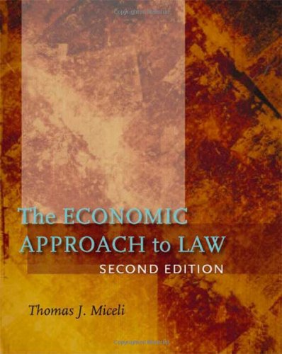 9780804756709: The Economic Approach to Law, Second Edition