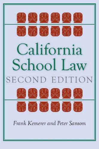 9780804760386: California School Law: Second Edition (Stanford Law Books)