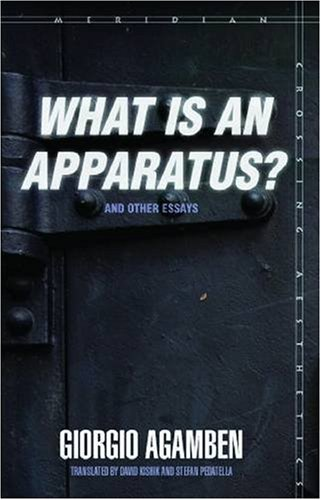 9780804762298: What Is an Apparatus?: And Other Essays (Meridian: Crossing Aesthetics)