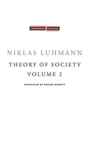 9780804771597: Theory of Society: 2