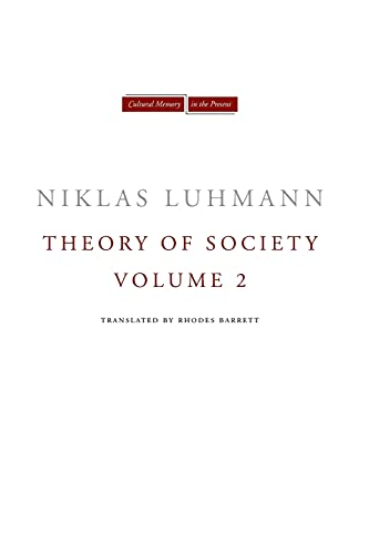 9780804771603: Theory of Society, Volume 2 (Cultural Memory in the Present)