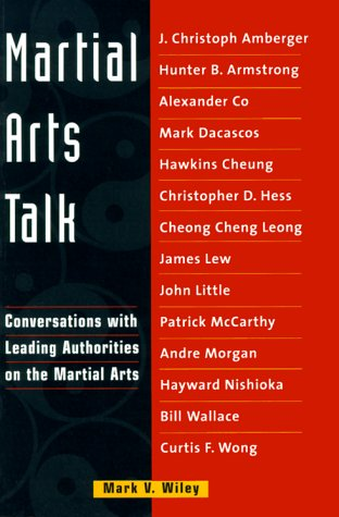 9780804831826: Martial Arts Talk: Conversations with Leading Authorities on the Martial Arts