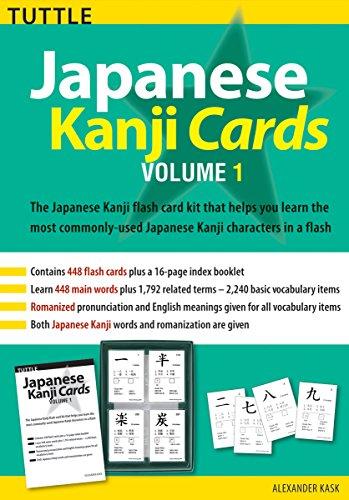 9780804833974: Japanese Kanji Cards Kit Volume 1 (Tuttle Flash Cards)