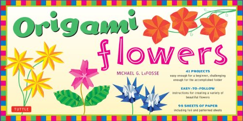 9780804835350: Origami Flowers Folded Kit