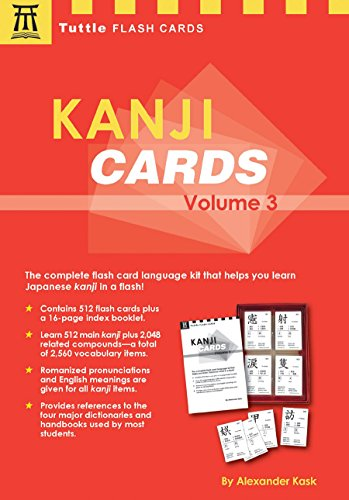 9780804836852: Kanji Cards, Volume 3 [With 16-Page Index Booklet]: v.ume 3 (Tuttle Flash Cards)
