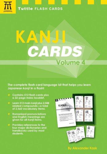 9780804836869: Kanji Cards: v. 4 (Tuttle Flash Cards)