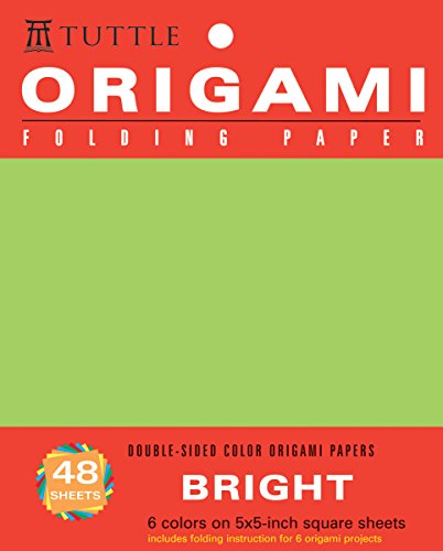 """Origami Folding Paper Bright 5"""""""" 48 Sheets (Origami Paper Packs)"""