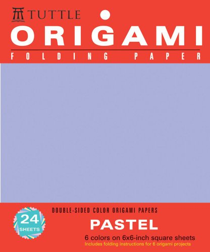 9780804837545: Origami Folding Paper Pastel 6 Colors on 6x6 Square Sheets: Double-sided Color Origami Papers
