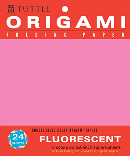 9780804837552: Origami Folding Paper, Fluorescent: 6 Colors on 6x6 Inch Square Sheets, Doubled-sided