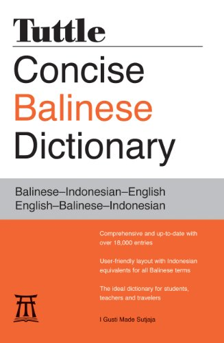 9780804837569: Tuttle Concise Balinese Dictionary: Balinese-Indonesian-English English-Balinese-Indonesian
