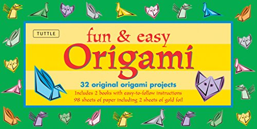 9780804837903: Fun & Easy Origami Kit: 32 Original Paper-folding Projects: Includes Origami Kit with 2 Instruction Books & 98 Origami Papers