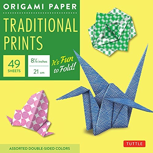 9780804838030: Origami Paper Traditional Prints: Assorted Double-Sided Colors