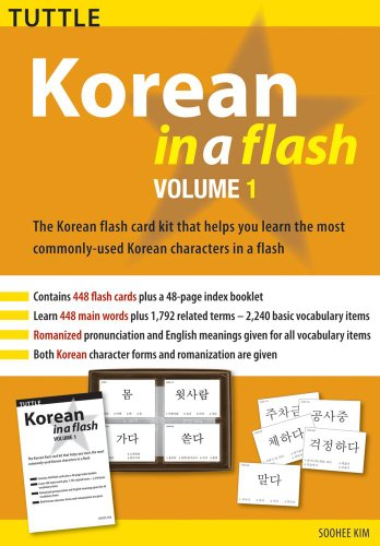 9780804839471: Korean in a Flash Kit Volume 1 (Tuttle Flash Cards)