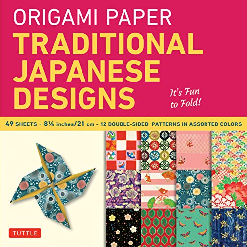 9780804841900: Origami Paper - Traditional Japanese Designs - Large 8 1/4