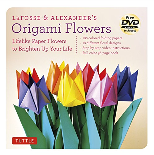 9780804843126: LaFosse & Alexander's Origami Flowers Kit: Lifelike Paper Flowers to Brighten Up Your Life: Kit with Origami Book, 180 High-Quality Origami Papers, 20 Projects & DVD