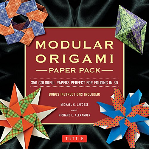 9780804843218: Modular Origami Paper Pack: Tuttle Origami Paper: 350 Colorful Papers Perfect for Folding in 3D