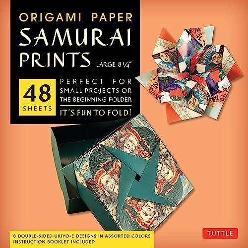 9780804843461: Origami Paper Samurai Prints Large 8 1/4