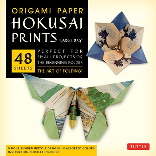 9780804844536: Origami Paper Hokusai Prints - Large 8 1/4: Perfect for Small Projects or the Beginning Folder