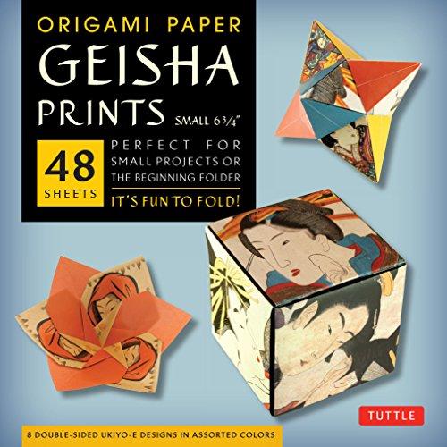 9780804844819: Origami Paper Geisha Prints Small 6  3/4 /Anglais
