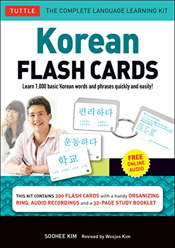 9780804844826: Korean Flash Cards Kit: Learn 1,000 Basic Korean Words and Phrases Quickly and Easily! (Hangul & Romanized Forms) (Audio-CD Included)