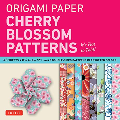 9780804844840: Origami Paper Cherry Blossom Patterns Large-8 1/4