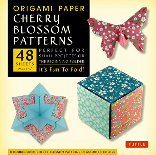 9780804844857: Origami Paper- Cherry Blossom Prints- Small 6 3/4
