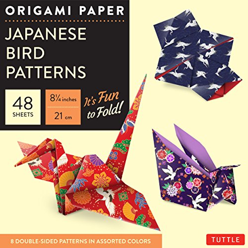 9780804844895: Origami Paper Japanese Bird Patterns Large 8 1/4  48 Sheets /Anglais