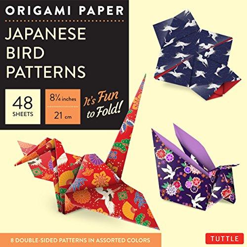 9780804844895: Origami Paper - Japanese Bird Patterns - 8 1/4