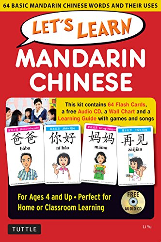 9780804845403: Let's Learn Mandarin Chinese Kit: 64 Basic Mandarin Chinese Words and Their Uses (Flashcards, Audio CD, Games & Songs, Learning Guide and Wall Chart)