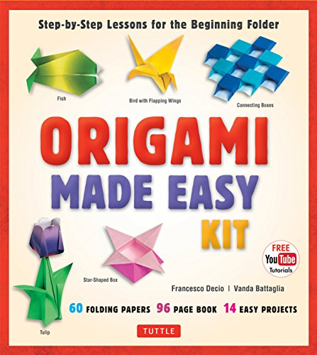 9780804845458: Origami Made Easy Kit: Step-by-Step Lessons for the Beginning Folder: Kit with Origami Book, 14 Projects, 60 Origami Papers, & Video Tutorial