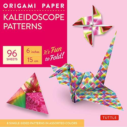 "Origami Paper - Kaleidoscope Patterns - 6"""" - 96 Sheets:"