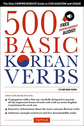 9780804846059: 500 Basic Korean Verbs: The Only Comprehensive Guide to Conjugation and Usage (Downloadable Audio Files Included)