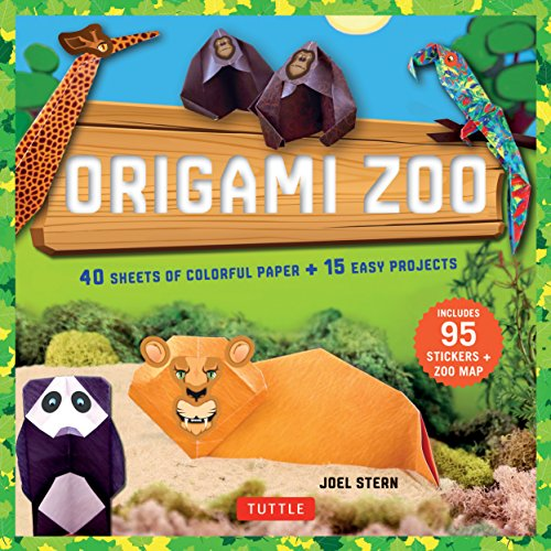 9780804846219: Origami Zoo Kit: Make a Complete Zoo of Origami Animals!: Kit with Origami Book, 15 Projects, 40 Origami Papers, 95 Stickers & Fold-Out Zoo Map