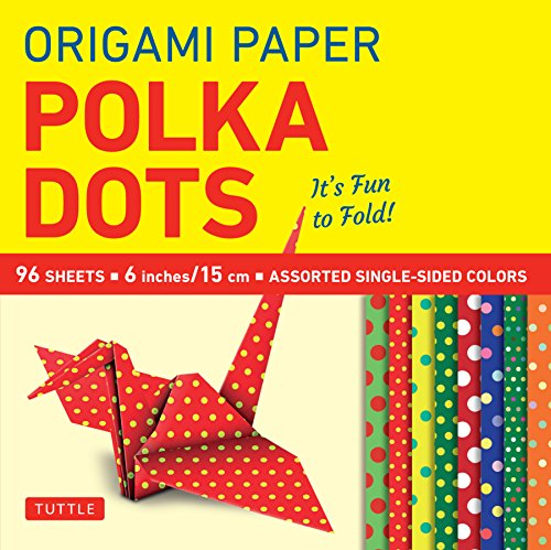 """Origami Paper - Polka Dots 6"""""""" - 96 Sheets: (Tuttle Origami Paper)"""