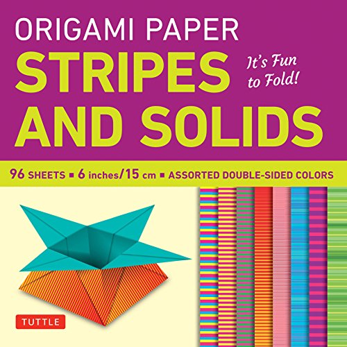 """Origami Paper - Stripes and Solids 6"""""""" - 96 Sheets: Tuttle Origami Paper: High-Quality Origami Sheets"""