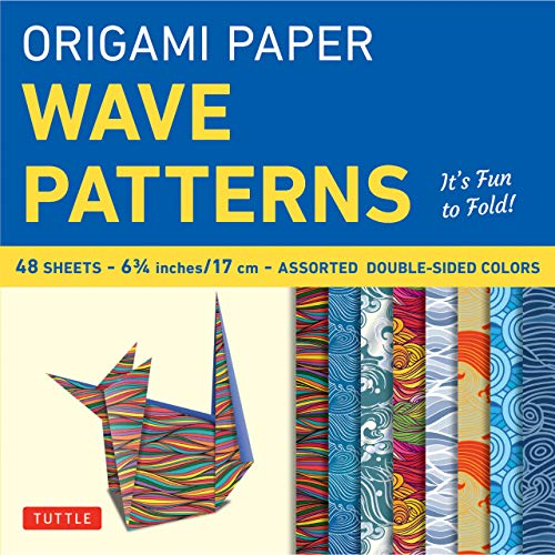 Origami Paper Wave Patterns